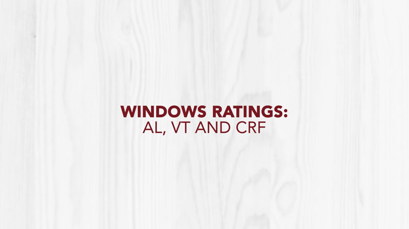 Doctor Exteriors - Windows Ratings AL, VT, and CRF